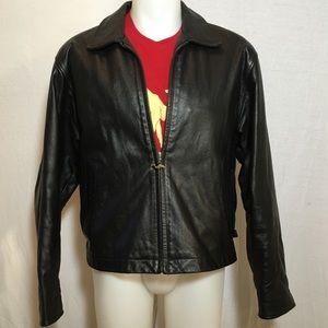 Vintage Leather Camel Jacket